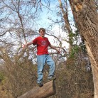 Chris on tree